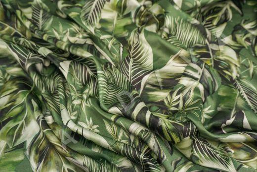 атласный шелк по мотивам DG на зеленом фоне рис-5