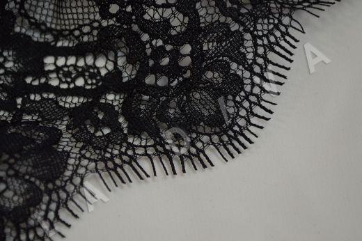 кружево шантильи с ресничками черного цвета рис-3