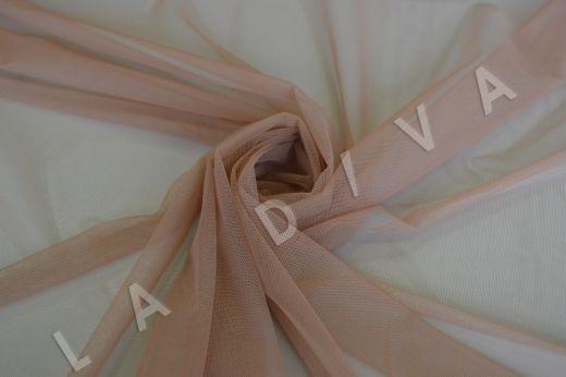 Мягкая сетка бежево-розового цвета