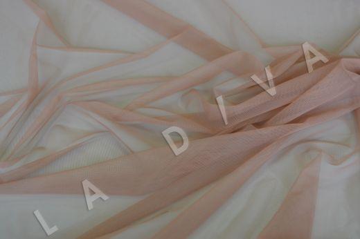 Мягкая сетка бежево-розового цвета рис-2