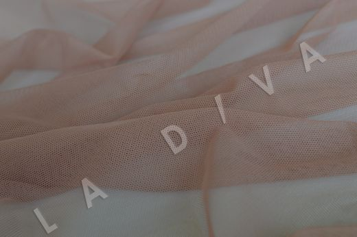 Мягкая сетка бежево-розового цвета рис-3