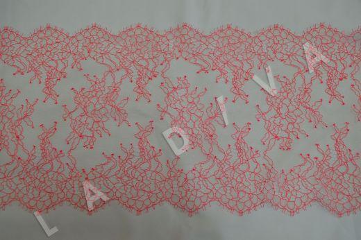 кружево шантильи с ресничками розового цвета рис-2
