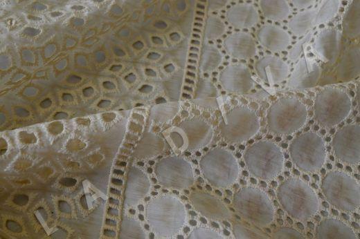Шитье кремового цвета на шелковом батисте рис-3