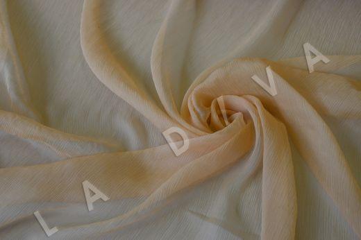 Шелковый креш-шифон кремового цвета рис-3