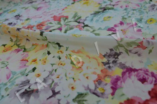 Шелк с цветочным принтом рис-3