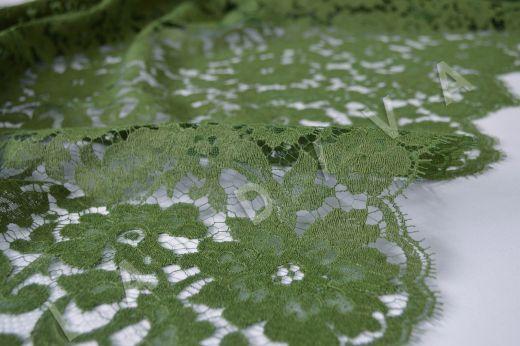 Французское кружево Solstiss цвета хаки рис-2