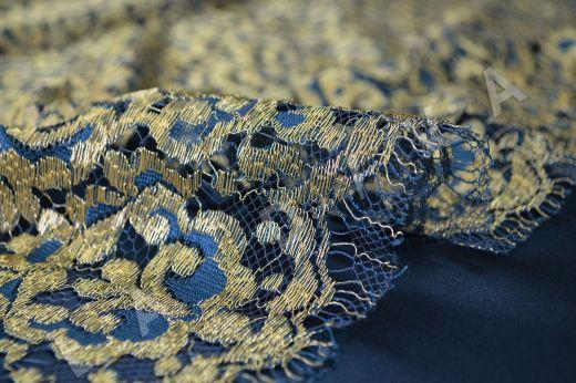 Французское кружево Solstiss цвета морской волны рис-3
