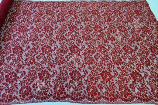 Французское кружево Solstiss бордового цвета рис-2