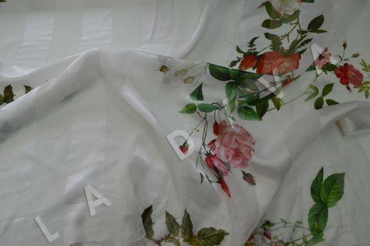 Шелк-деворе с цветочным принтом рис-4