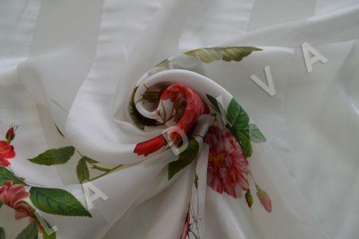 Шелк-деворе с цветочным принтом