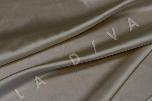 Атласный шелк бежевого цвета рис-3