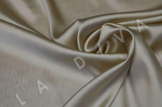 Атласный шелк бежевого цвета