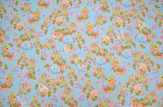 штапель вискоза с цветочным принтом на голубом фоне рис-4