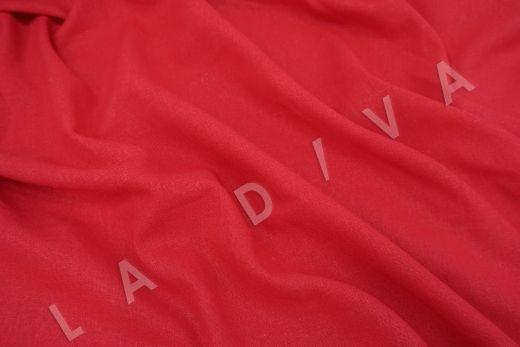 Лен с эластаном красного цвета рис-2