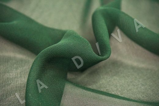 шелковый креповый шифон темно-зеленого цвета рис-3
