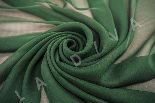 шелковый креповый шифон темно-зеленого цвета рис-2