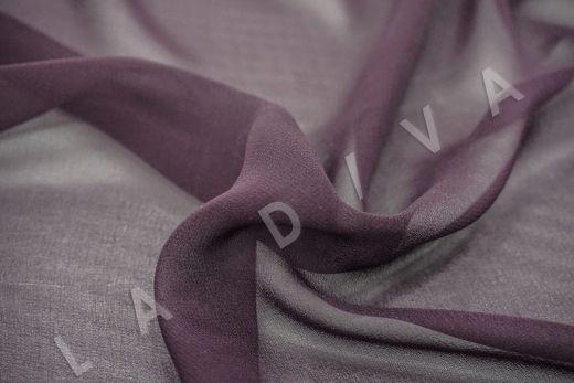 шелковый креповый шифон фиолетового цвета рис-2
