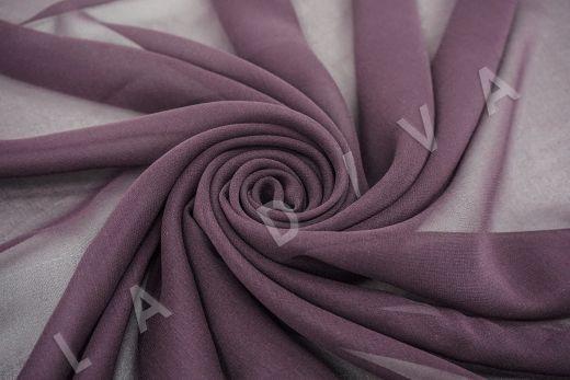 шелковый креповый шифон фиолетового цвета рис-3