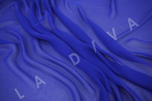 шелковый креповый шифон синего цвета рис-2