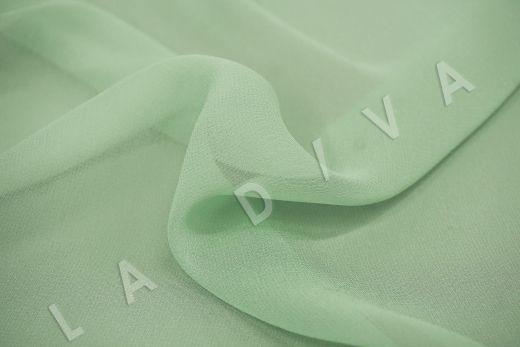 шелковый креповый шифон салатового цвета рис-2