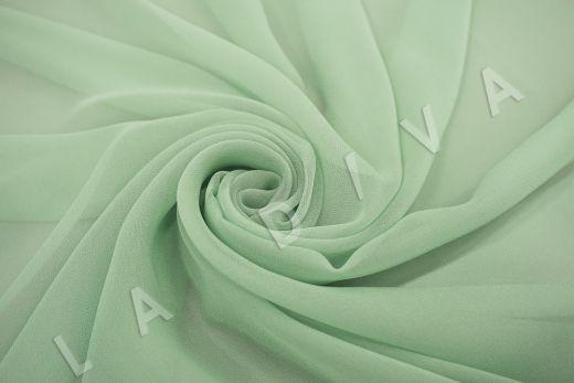 шелковый креповый шифон салатового цвета