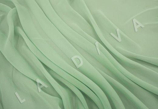 шелковый креповый шифон салатового цвета рис-3