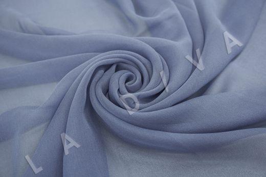 шелковый креповый шифон серо-голубого цвета рис-2