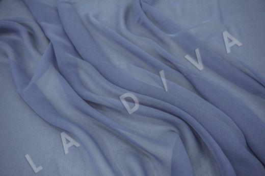 шелковый креповый шифон серо-голубого цвета рис-3