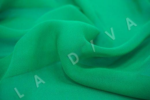 шелковый креповый шифон зеленого цвета рис-2