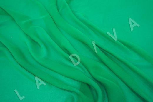 шелковый креповый шифон зеленого цвета рис-3