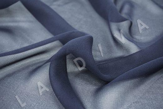 шелковый креповый шифон темно-синего цвета рис-2
