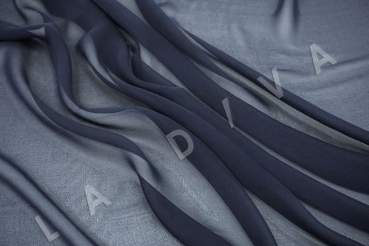 шелковый креповый шифон темно-синего цвета рис-3