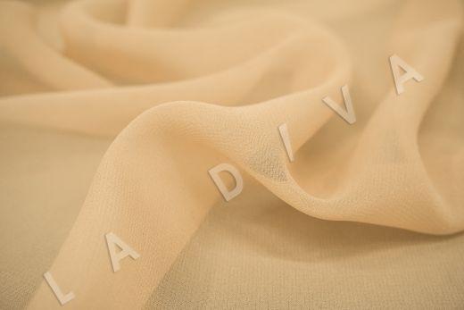 шелковый креповый шифон бежевого цвета рис-2