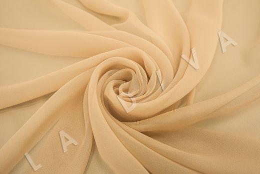 шелковый креповый шифон бежевого цвета рис-3