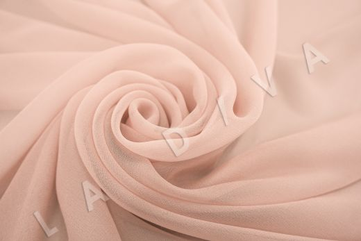 шелковый креповый шифон персикового цвета рис-2