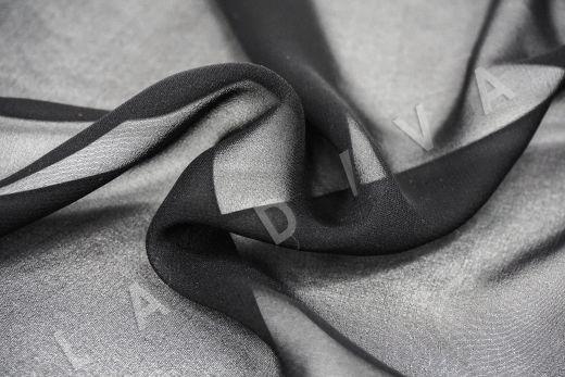 шелковый креповый шифон черного цвета рис-2