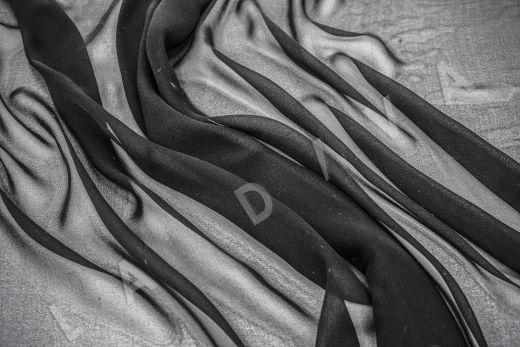 шелковый креповый шифон черного цвета рис-3