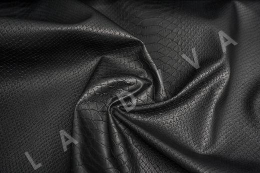 Экокожа под рептилию чёрного цвета рис-4