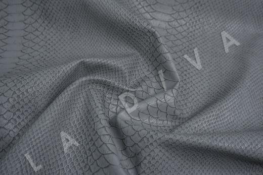 Экокожа под рептилию серо-синего цвета рис-4