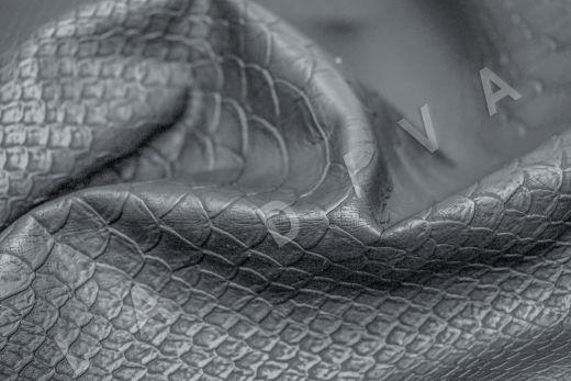 Экокожа под рептилию серо-синего цвета
