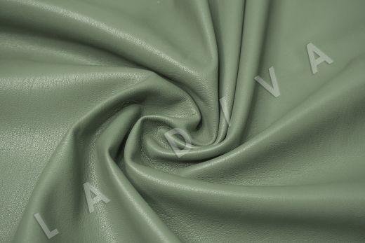Экокожа на замшевой основе фисташкового цвета