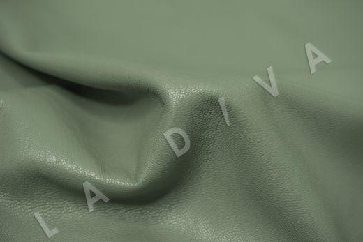 Экокожа на замшевой основе фисташкового цвета  рис-2