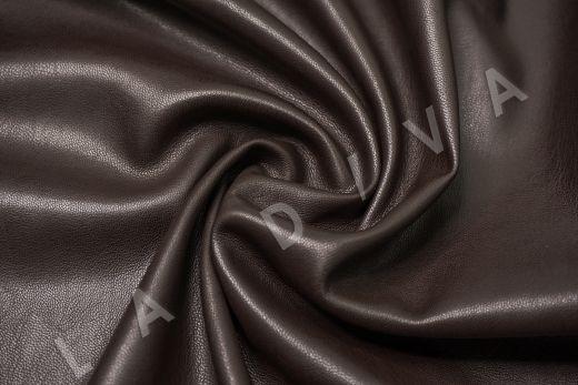 Экокожа на замшевой основе шоколадного цвета