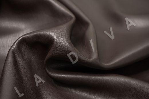Экокожа на замшевой основе шоколадного цвета  рис-2