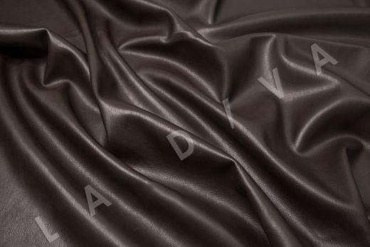 Экокожа на замшевой основе шоколадного цвета  рис-3