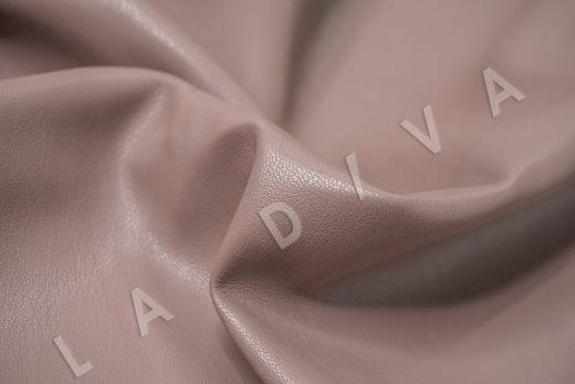 Экокожа на замшевой основе цвет пыльная роза рис-2
