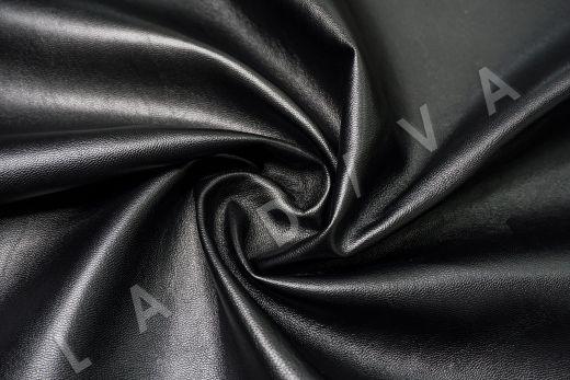 экокожа на костюмной основе черного цвета