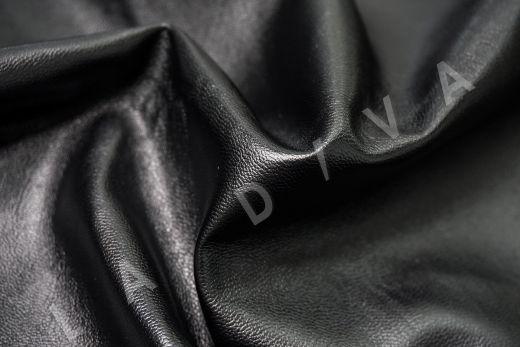 экокожа на костюмной основе черного цвета  рис-2
