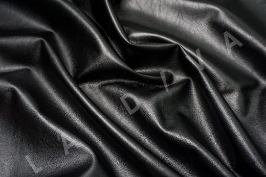 экокожа на костюмной основе черного цвета  рис-3