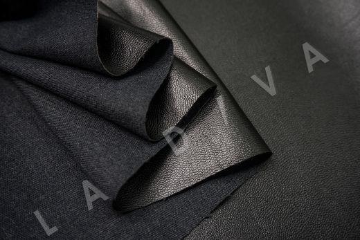 экокожа на костюмной основе черного цвета  рис-4